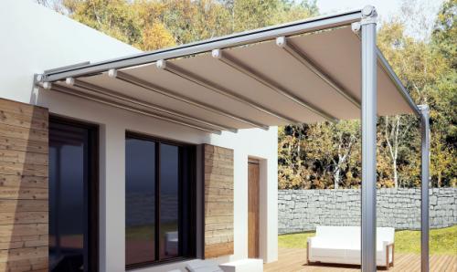 Tenda da sole per esterni in pvc retrattile roma - Tende impermeabili da esterno ...