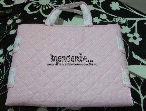 Borsa fasciatoio rosa fantasia con orsetti e pois for Fasciatoio fai da te